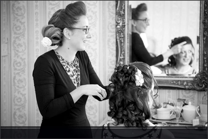 Wedding Hair Worthing, Amy Rawlings creating another wonderful bridal hair style in Worthing