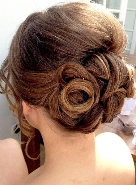 Wedding Hair Style Worthing Low Set With Loops